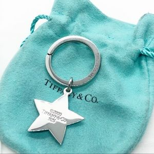 Tiffany & Co. Silver Star Keychain with Pouch